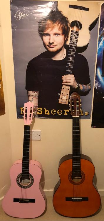 My guitars and my Ed Sheeran poster